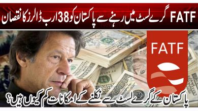 FATF گرے لسٹ میں رہنے سے پاکستان کو 38 ارب ڈالرز کا نقصان