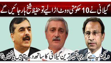 گیلانی نے 10 حکومتی ووٹ اڑا لیے تو حفیظ شیخ ہار جائیں گے
